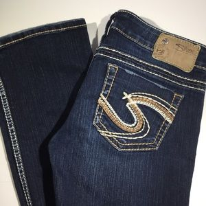 Silver Jeans Tuesday Slim Bootcut Low Rise Dark👖